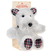 Aroma Home Microwaveable Cosy Hottie - White Scottie Dog