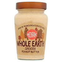 Whole Earth Smooth Peanut Butter - Hi-Oleic - 340g