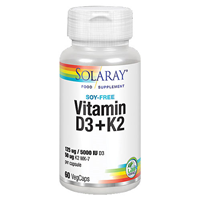 Solaray Vitamin D3 & K2 - 60 Vegicaps