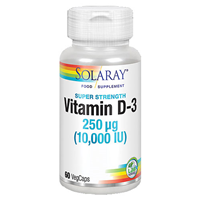 Solaray Vitamin D3 - 60 x 10,000iu Vegicaps