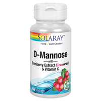 Solaray D-Mannose with CranActin - 60 x 1000mg Vegicaps