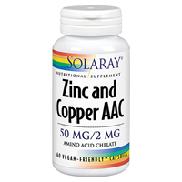 Solaray Zinc and Copper AAC - 60 Vegicaps