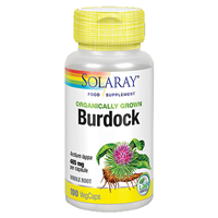 Solaray Organically Grown Burdock Root - 100 Vegicaps
