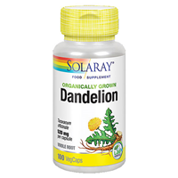 Solaray Organically Grown Dandelion Root - 100 Vegicaps