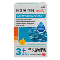 Equazen Children`s Chews - 60 Strawberry Flavoured Capsules