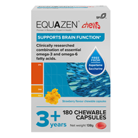 Equazen Children`s Chews - 180 Strawberry Flavoured Capsules
