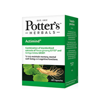 Potter`s Herbals Actimind - 60 Capsules