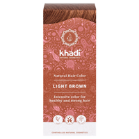 Khadi Natural Permanent Hair Colour Powder in Light Brown