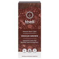 Khadi Natural Hair Colour Powder - Medium Brown - 100g