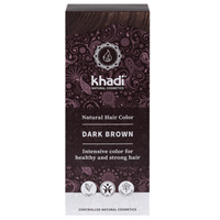 Khadi Natural Permanent Hair Colour Powder in Dark Brown