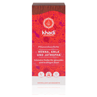 Khadi Natural Permanent Hair Colour Powder with Henna, Amla & Jatropha in Red - 100g