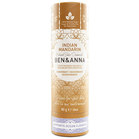 Ben & Anna Indian Mandarin Natural Soda Deodorant Stick - 60g