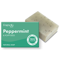 Friendly Soap Peppermint & Poppy Seed Bar Soap - 95g