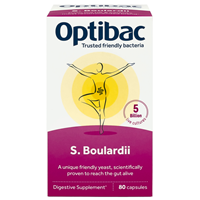 OptiBac Probiotics Saccharomyces Boulardii  - 80 Caps