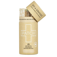 PATCH Natural Bamboo Strip Bandages - 25 Pack