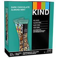 KIND Dark Chocolate Almond & Mint Snack Bars - 12 x 40g
