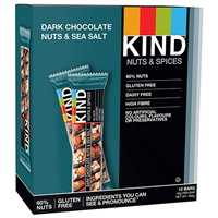 KIND Dark Chocolate Nuts & Sea Salt Snack Bars - 12 x 40g