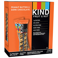 KIND Peanut Butter & Dark Chocolate Snack Bars - 12 x 40g - Best before date is 6th May 2020