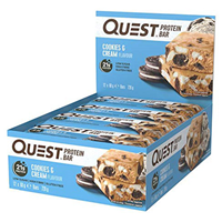 Quest Nutrition Cookies & Cream Protein Bars - 12 x 60g