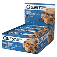 Quest Nutrition Oatmeal Chocolate Chip Protein Bars - 12 x 60g
