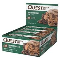 Quest Nutrition Mocha Chocolate Chip Protein Bars - 12 x 60g