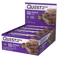 Quest Nutrition Double Chocolate Chunk Protein Bars - 12 x 60g