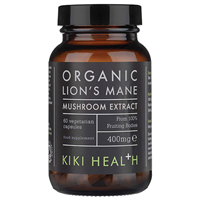 KIKI Health Organic Lion`s Mane Extract Mushroom - 60 x 400mg Vegicaps