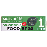 Maistic Compostable Food Bags - 1 Litre - 40 Bags