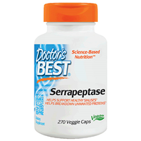 Serrapeptase - 40,000 Units - 270 Vegicaps