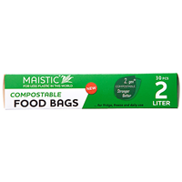 Maistic Compostable Food Bags - 2 Litre - 30 Bags