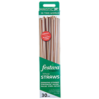 Maistic Plastic Free Wheat Straws - 30 Pack