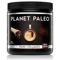 Planet Paleo Keto Coffee Pure Collagen - 213g Powder