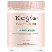 Vida Glow Pineapple & Mint Beauty Greens Powder - 210g