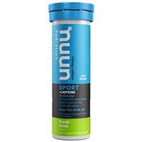 Nuun Sport + Caffeine 10 Effervescent Hydration Tablets - Fresh Lime Flavour