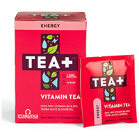 TEA+ Energy Raspberry & Pomegranate Vitamin Tea - 14 Teabags