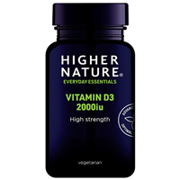 Higher Nature Vitamin D3 2000iu - 120 Capsules