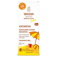 Weleda Baby & Kids Edelweiss Sunscreen Lotion Sensitive SPF 50 - 50ml