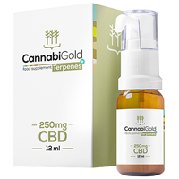 CannabiGold Terpenes+ 250mg CBD Oil - 12ml