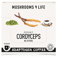 Mushrooms 4 Life Organic Cordyceps Adaptogen Coffee - 10 Sachets