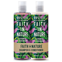 Faith in Nature Lavender & Geranium Nourishing Shampoo & Conditioner - 2 x 400ml