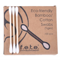 F.E.T.E. Bamboo Cotton Swabs - 100 Pack