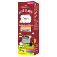 Natures Aid Iron Mini Drops for Infants & Children - 50ml