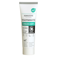 Urtekram No Fluoride Strong Mint Sensitive Toothpaste - 75ml