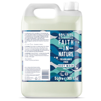 Faith in Nature Fragrance-Free Sensitive Body Wash Refill - 5 Litre