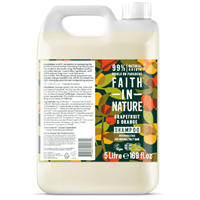 Faith in Nature Grapefruit & Orange Invigorating Shampoo for Normal to Oily Hair Refill - 5 Litre