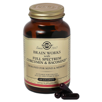 Solgar Brain Works with Full Spectrum Curcumin & BacoMind - 60 Licaps