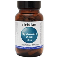 Viridian Hyaluronic Acid - 90 x 50mg Vegicaps