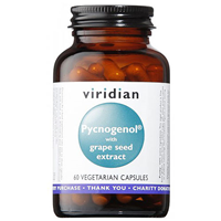Viridian Pycnogenol & Grape Seed Extract  - 60 Vegicaps