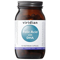 Viridian Folic Acid with DHA - 90 Vegicaps