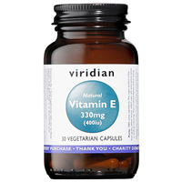 Viridian Natural Vitamin E 400IU - 30 Vegicaps